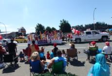 Canada dayのパレードの様子