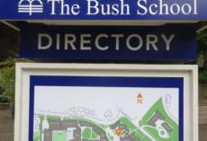 THe Bush Schoolの全体地図です。