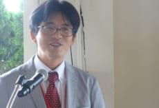 学年主任中村先生からアメリカの先生方へのお礼のスピーチ。もちろん英語でおこないました。